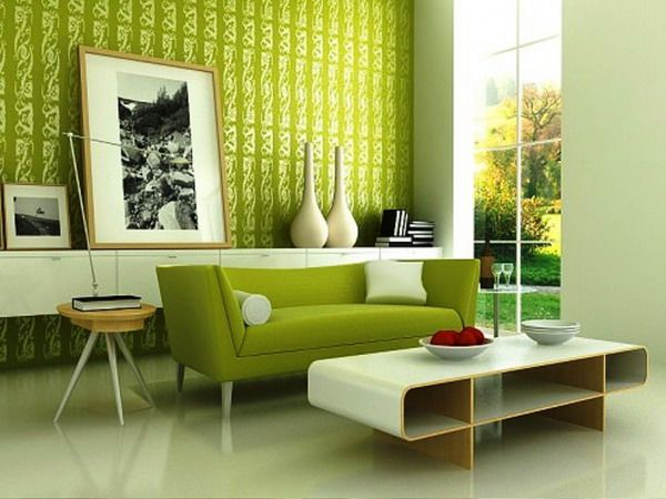Living Room Design Ideas Green green and white contemporary living room with white marble