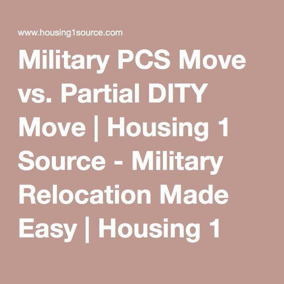 Military PCS Move Vs. Partial DITY Move