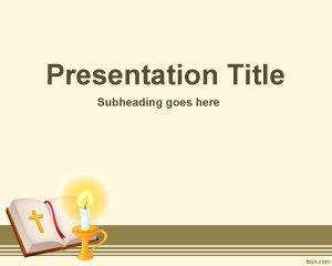 Free Bible Powerpoint Template With Sepia Background And