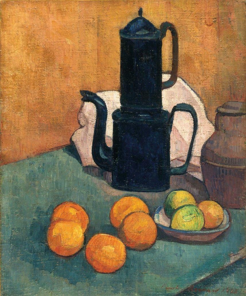 """Émile Henri Bernard (France 1868-1941) The Blue Coffee Pot (1888) oil on canvas, 55.2 x 45.8 cm Kunsthalle Bremen, Germany """