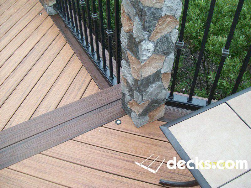Trex Transcends decking transition board Diagonal Decking