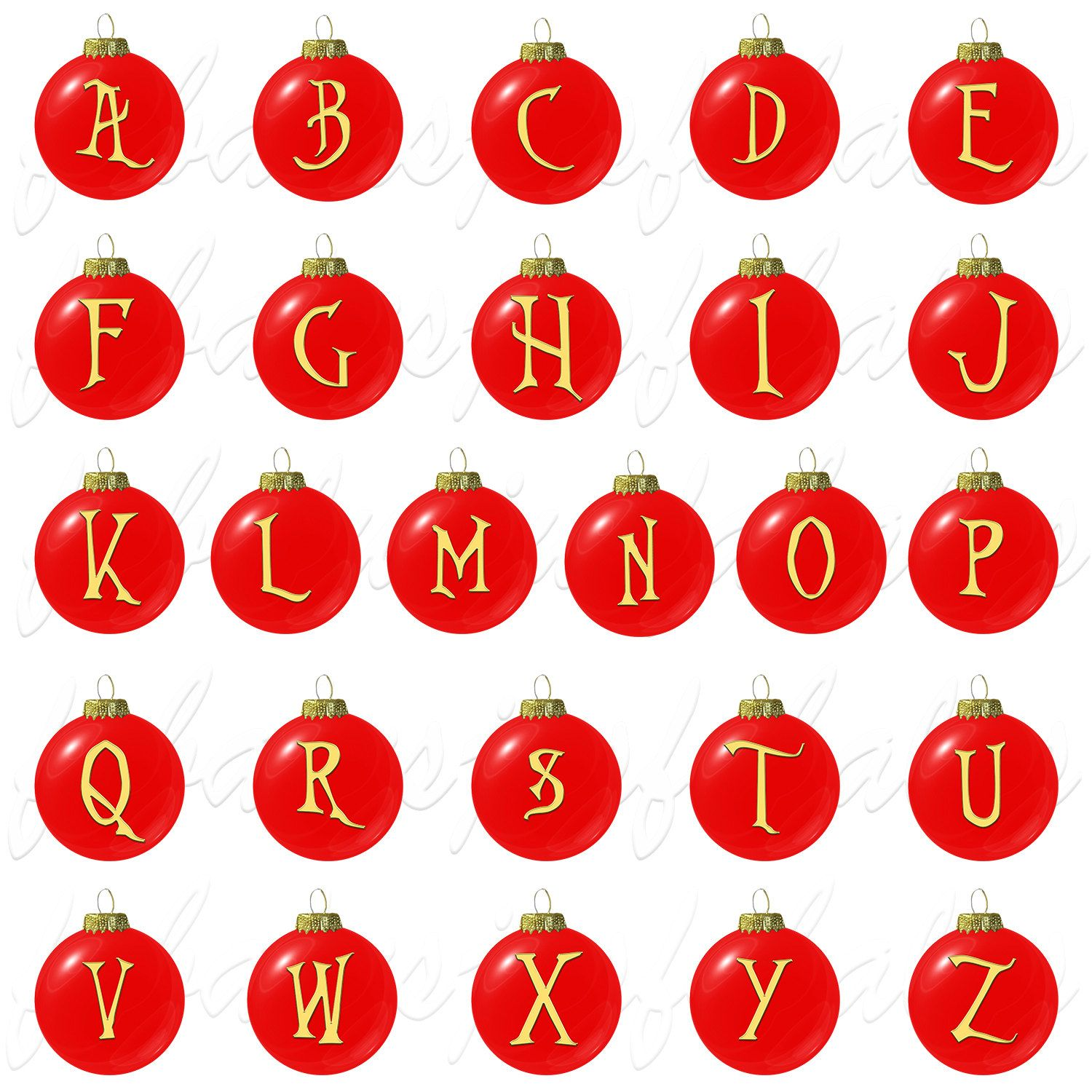 Alphabet Letters Numbers Red And Gold Christmas Ornament Etsy Lettering Alphabet Christmas Alphabet Gold Christmas Ornaments