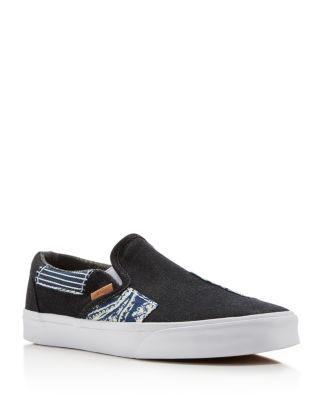 1abd1096b1831d VANS Classic Ca Denim Patchwork Slip On Sneakers.  vans  shoes  sneakers