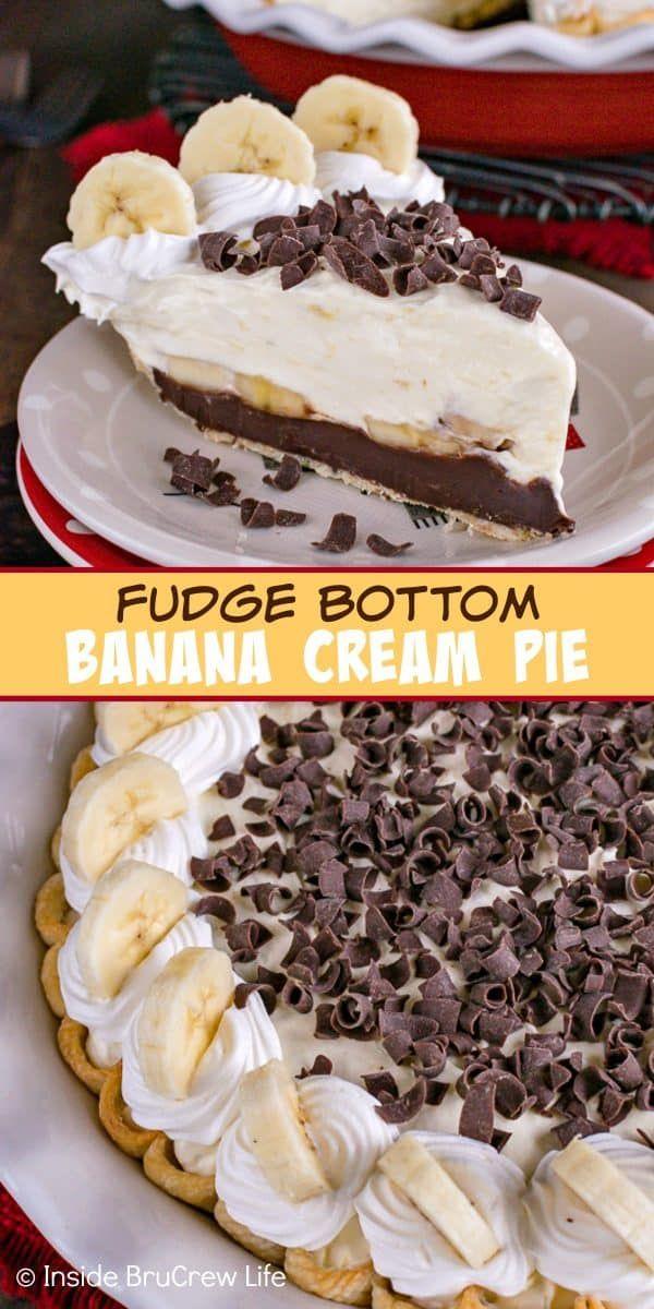 Best Fudge Bottom Banana Cream Pie Recipe