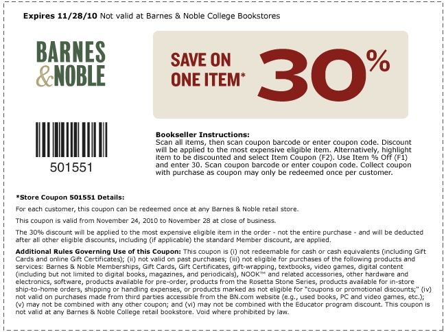 image regarding Barnes and Noble Printable Coupon named Barnes Noble Coupon Codes Printable Coupon codes With numerous