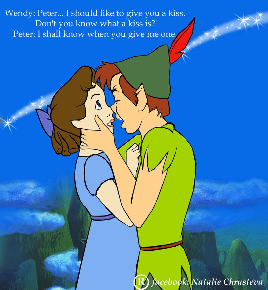 Peter And Wendy And Their First Kiss By Natportman Located