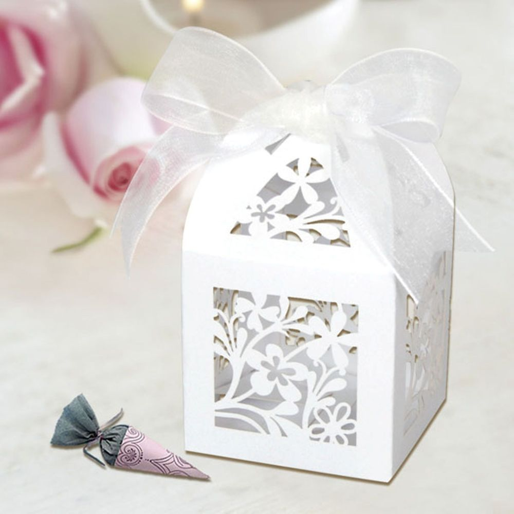 Laser Cut Wedding Engagement Anniversary Party Favour Box Table ...
