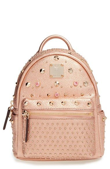 MCM  X Mini Bebe Boo  Leather Backpack  93e13713b63
