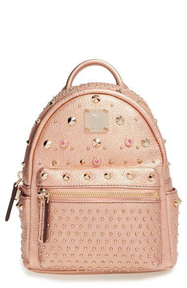 MCM  X Mini Bebe Boo  Leather Backpack  90609f42dac37