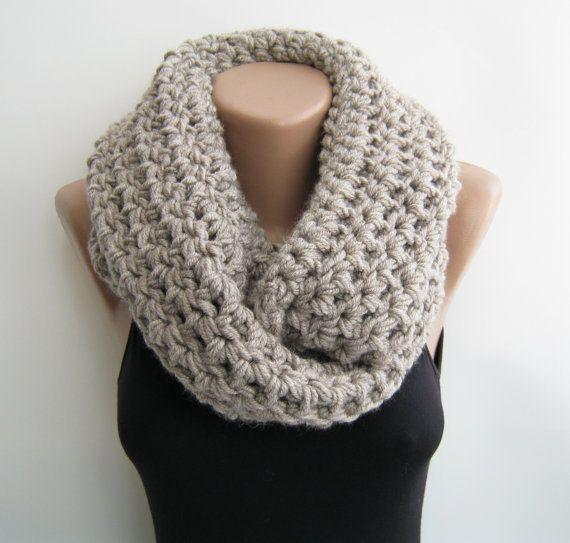 free pattern crochet infinity scarf | Chunky loop scarf, oat meal ...