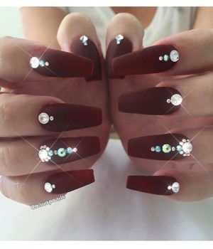 50 Newest Burgundy Nails Designs You Should Definitely Try In 2020 Burgundy Nails Burgundy Nail Designs Maroon Nails