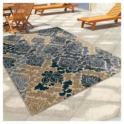 Orian Rugs Victorian Damask Napa Indoor/Outdoor Area Rug - Multicolor,