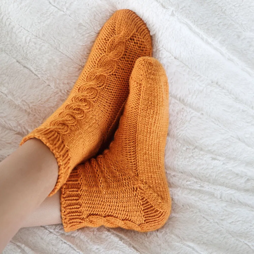 Cable Knit Socks, Knitting Socks