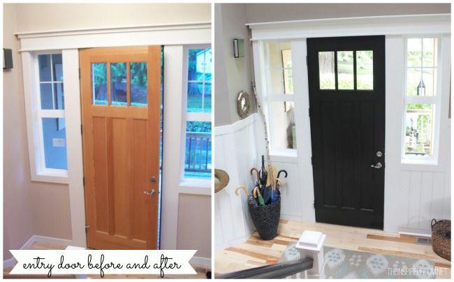 Entry U0026 Front Door Makeover {More Progress