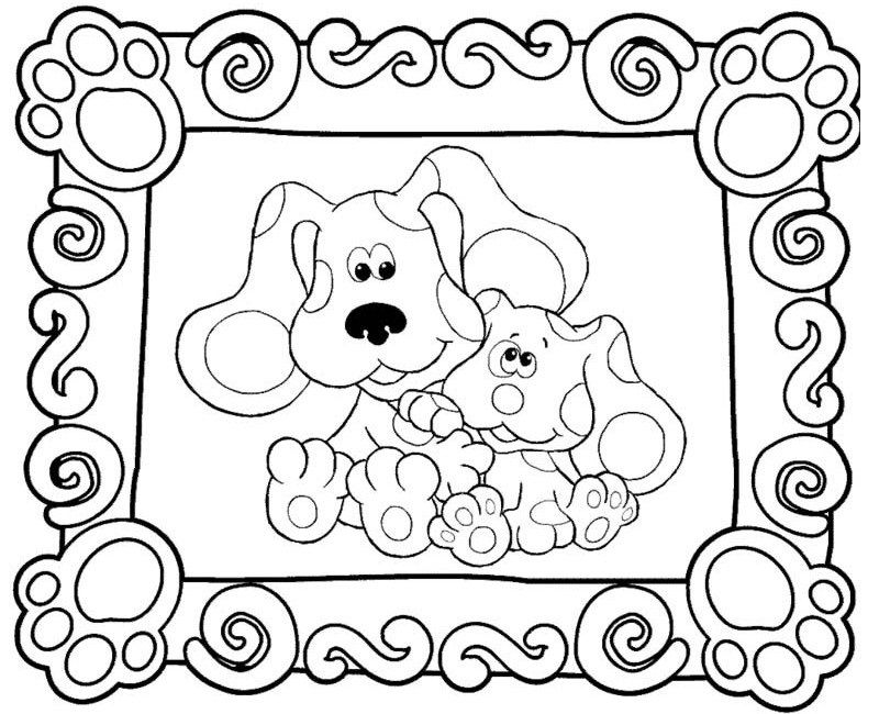 Free Printable Blues Clues Coloring Pages For Kids Coloring Pages For Kids Nick Jr Coloring Pages Blues Clues