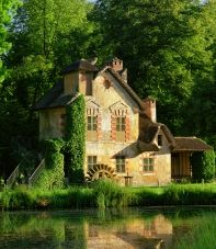 """The Hamlet at Petitie Trianon Gardens at the Palace of Versailles... where Marie Antoinette would go to play """"country girl""""."""