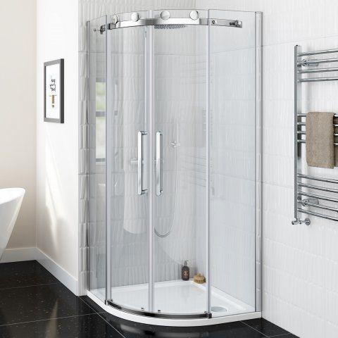 900x900mm Luxe Frameless Easyclean Quadrant Shower Enclosure 8mm Soak Com Quadrant Shower Quadrant Shower Enclosures Shower Enclosure