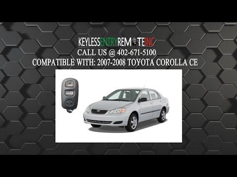 How To Change A 2003 2008 Toyota Corolla Key Fob Remote Battery Fcc Id Gq43vt14t Key Fob Programming Instructions Toyota Corolla Nissan Armada Key Fob