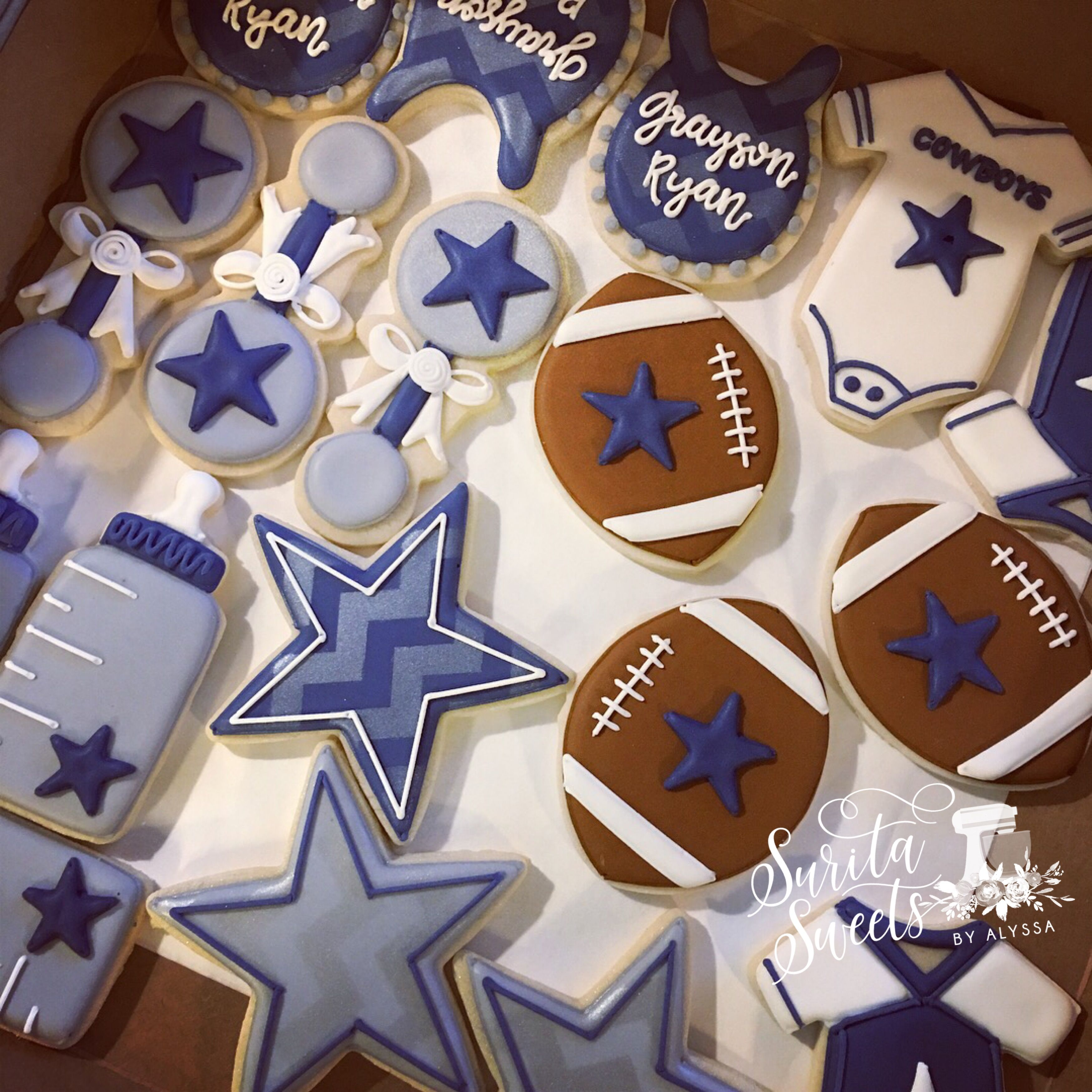 Dallas Cowboys Baby Shower Sugar Cookies Surita Sweets