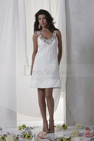 New Arrival Little White Wedding Dress with Sequined Straps and Ruche Detail