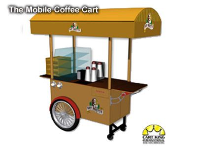 office coffee cart. Another Mobile Coffee Cart. Designed For Van Houtte Coffee. Simple, Light Weight And Office Cart