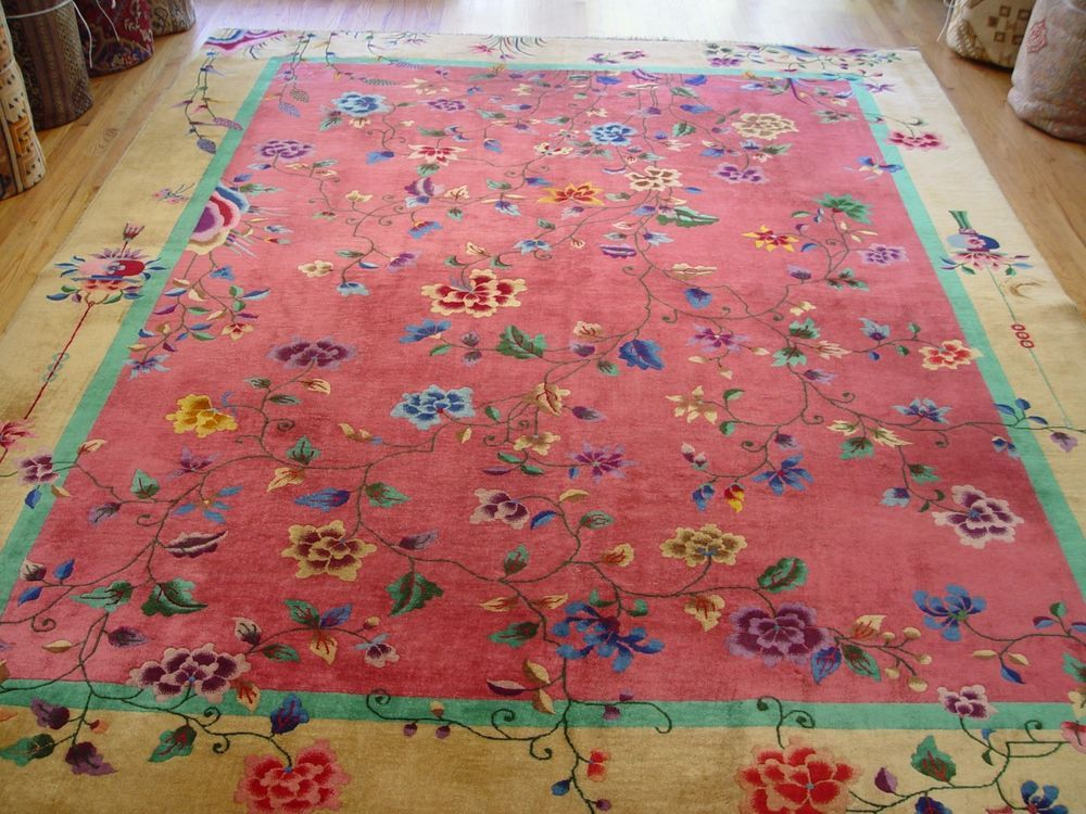 9 X 11 7 Gorgeous Art Deco Chinese Hand Knotted Wool Oriental Rug