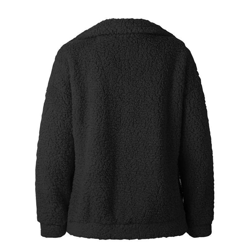 Teddy Coat Women Fluffy Jacket Autumn Winter Warm Fleece Fur