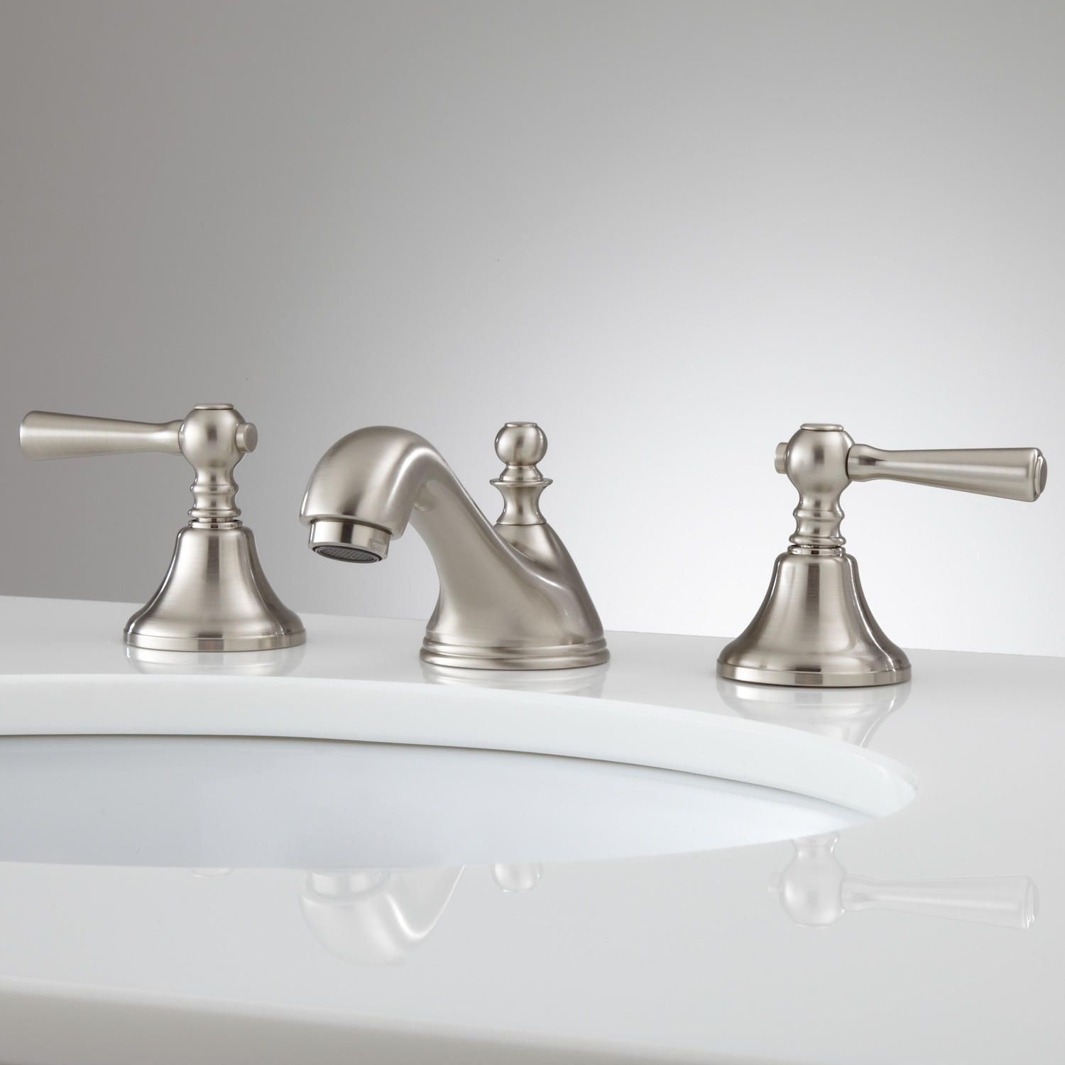elaia widespread bathroom faucet - no overflow - brushed nickel