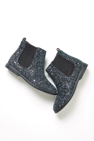 Buy Black Multi Glitter Chelsea Boots (Older Girls) online today ...