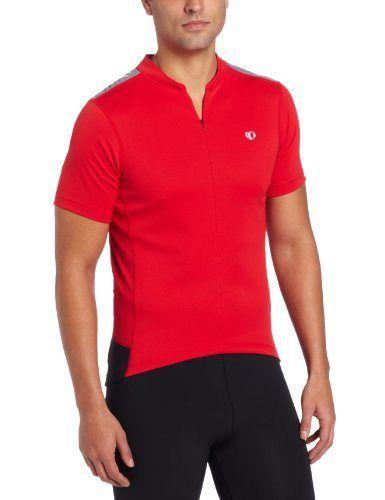 Pearl Izumi Men's Quest Jersey, True Red/Black, Large - http://ridingjerseys.com/pearl-izumi-mens-quest-jersey-true-redblack-large/