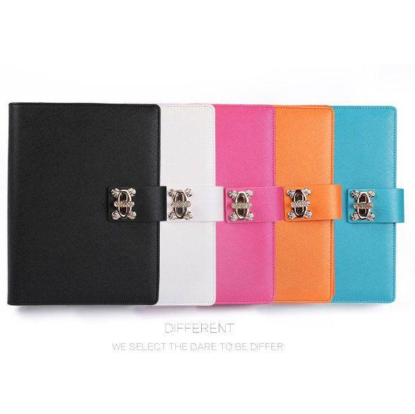 Cute Leather Spiral Notebook Ring Binder Agenda Organizer