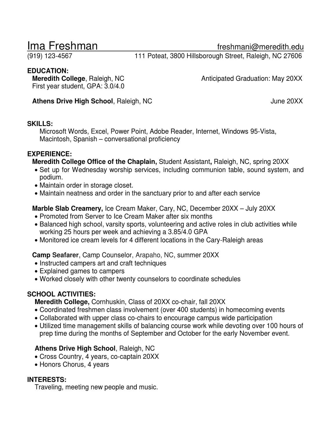 Sample Resumes  Sample Resume And Resume
