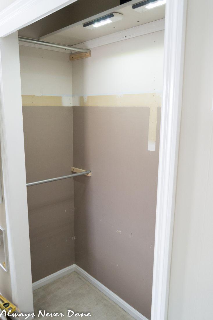 Master bedroom hallway  ClosetMakeoverFishStencilAlwaysNeverDone   Stuff I want to