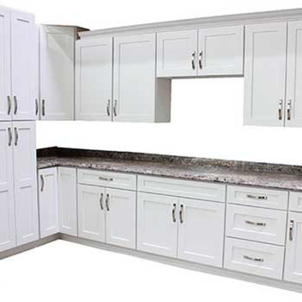 Arctic White Kitchen Cabinets in 2020 | White shaker ...