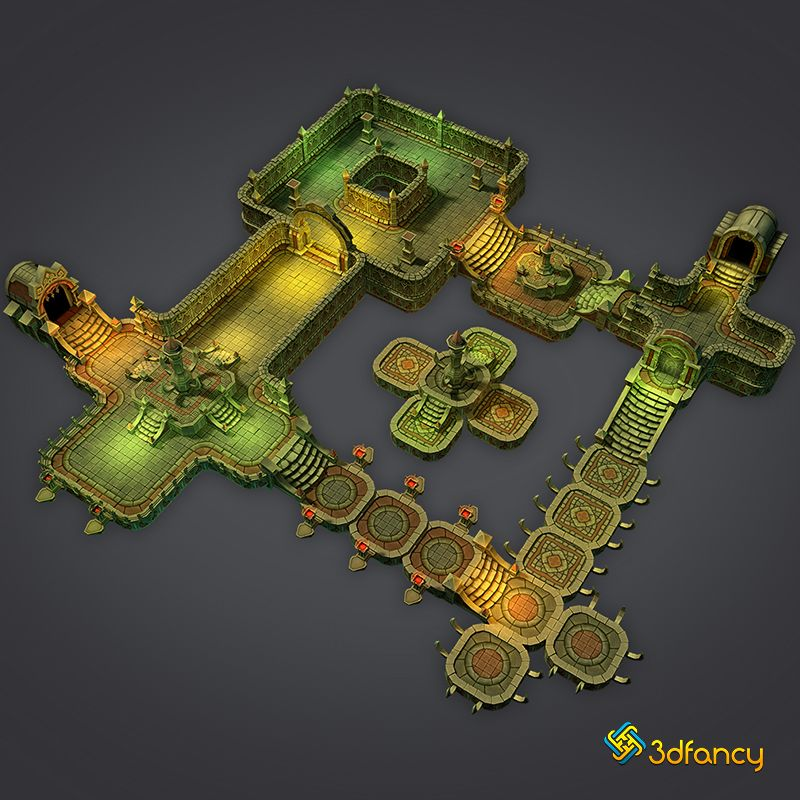 3dfancy com | Low Poly 3d Model Hand Painted Texture | JdR