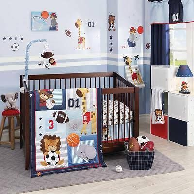 Sports Themed Nursery Bedding With Images Baby Boy Bedding