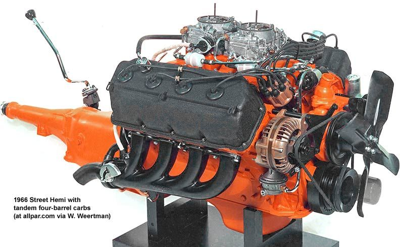 chrysler 426 cid dual quad v 8 engine coupled with a manual rh pinterest com hemi engine manual pdf hemi engine manual