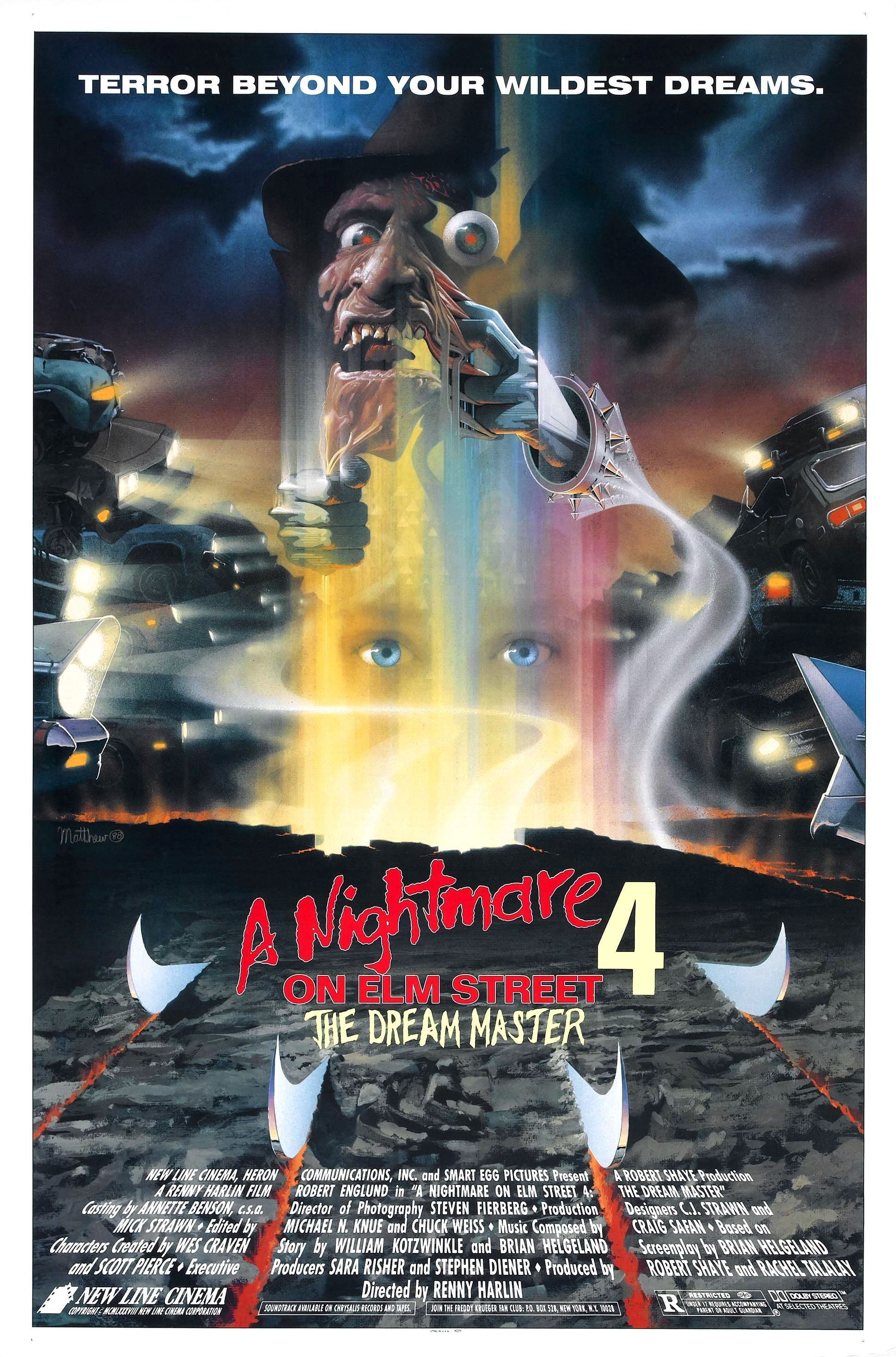 A Nightmare On Elm Street 4 The Dream Master 1988 Cartazes De