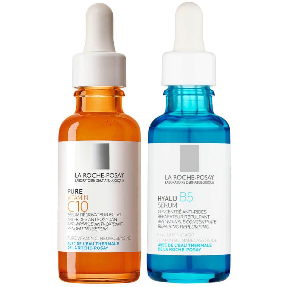 La Roche Posay Hydrate And Glow Serum Duo Produtos Para A Pele Produtos De Beleza Produtos Para O Rosto