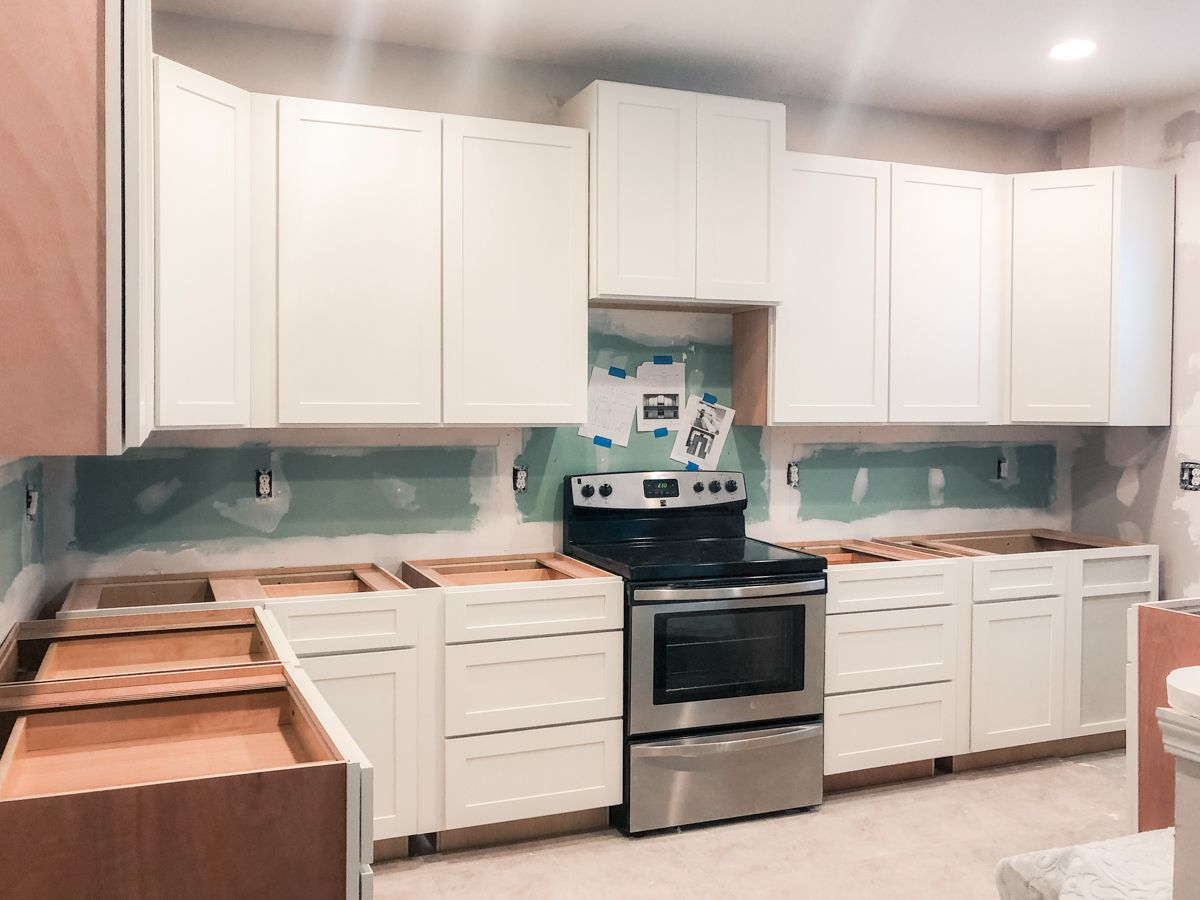 Kitchen Cabinets Installed: White Shaker Cabinets | Home ...