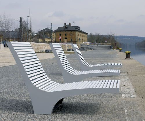 Contemporary lounge chair / aluminum / stainless steel / PET COMFONY ...