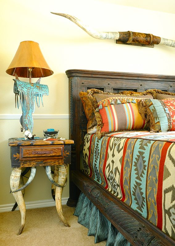 Western Bedroom: Rules You Can Break When Decorating #3: Perk Up The
