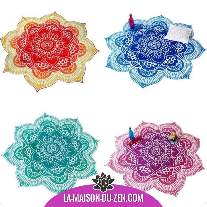 Magnifique Toile Lotus 4 Couleurs Disponibles Accessoires De Meditation Couleur Deco Decoration Fleur De Lotus Tapisserie Boho Tenture Tapisserie Boheme
