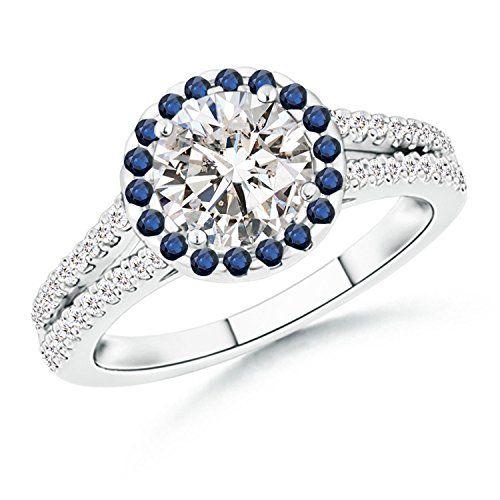 Angara Split Shank Diamond Engagement Ring in Platinum a7qMum