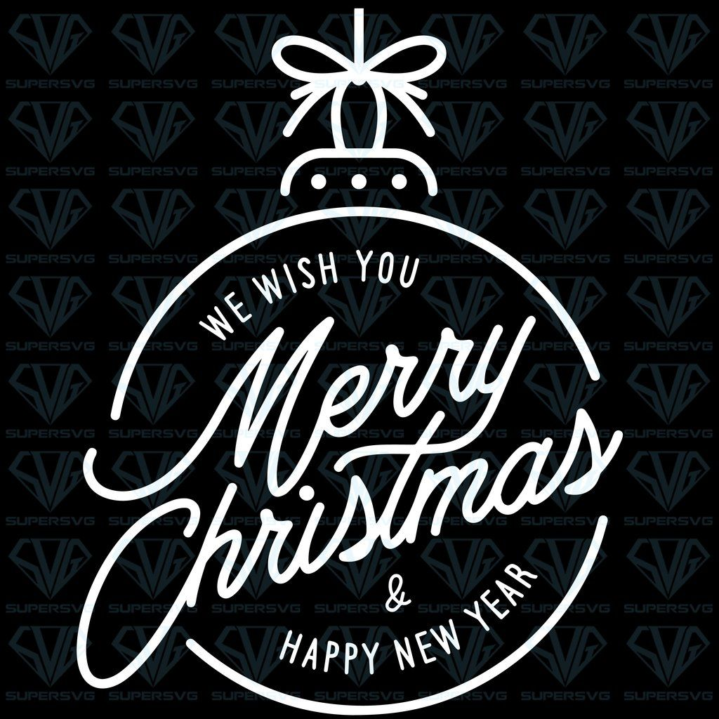 Merry Christmas Happy New Year Lettering Stock Vector Svg Files For Silhouette Files For Cricut Svg Dxf Eps Png Instant Download Supersvg Lettering Happy New Year Png Merry Christmas And