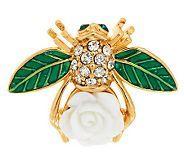 qvc.com...Joan Rivers Limited Edition Gardenia Bee Pin.