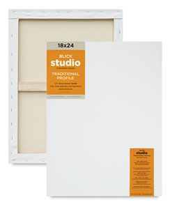 1 Piece White 18 x 24 inches Time 4 Crafts Pre-Stretched Blank Cotton Canvas for Acrylic /& Oil Painting