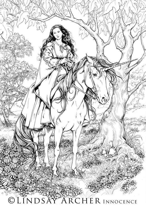 Innocence Bw By Linzarcher On Deviantart Coloring Pages