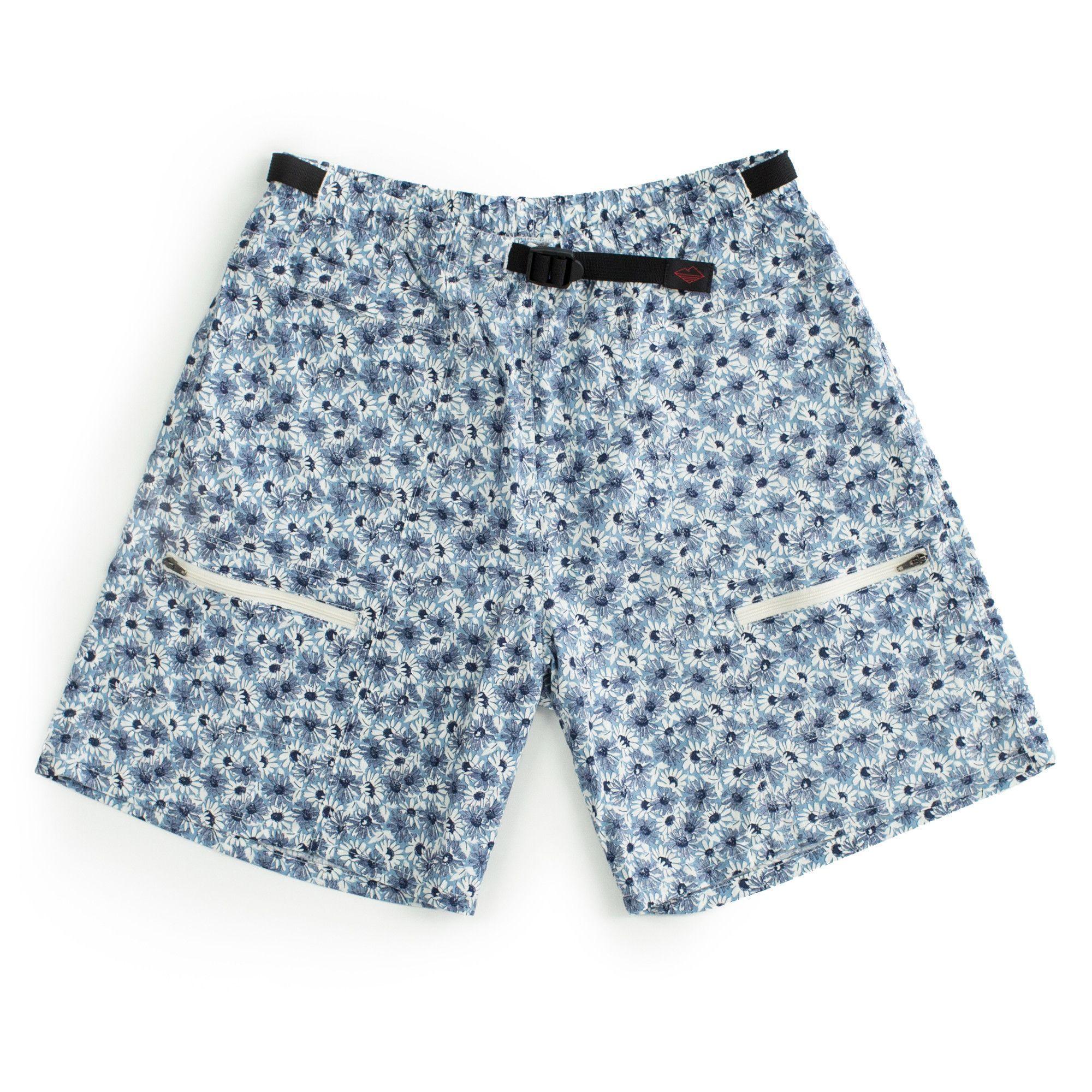 Camp Shorts, Blue Daisy
