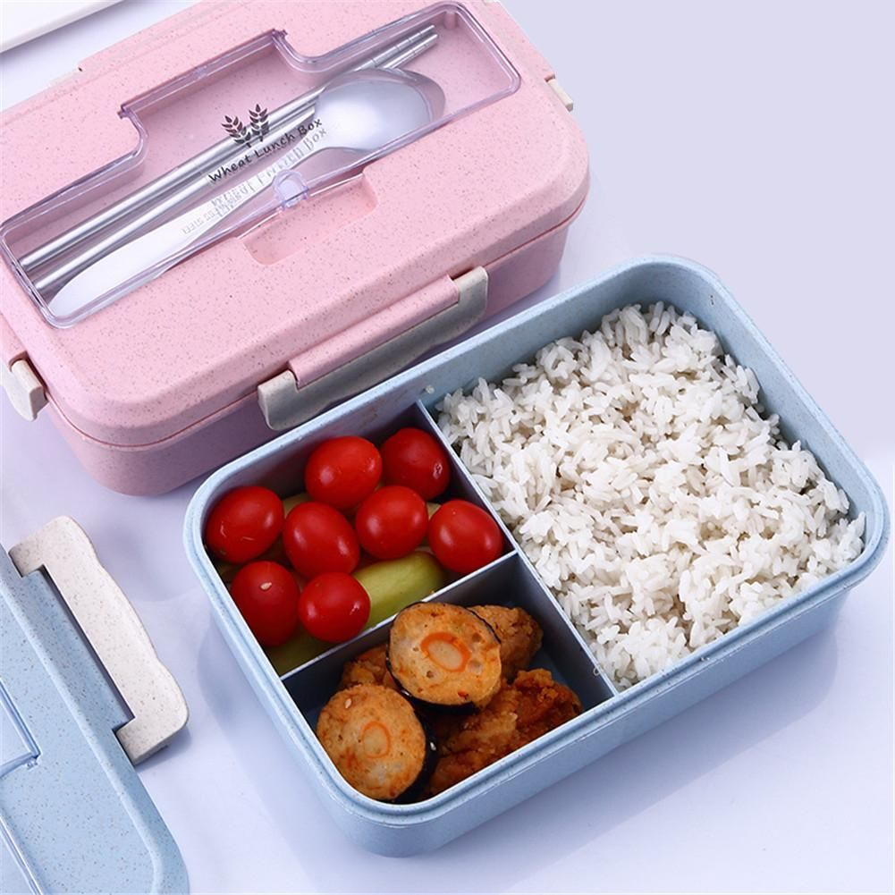 Details about  /1 x Three-layer Lunch Box For Kids Adults Food Container Set Bento Storage Boxes